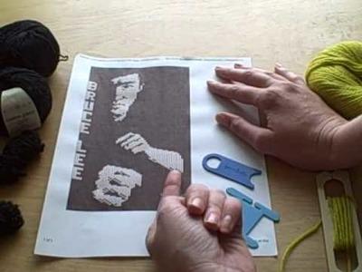 Knitting from intarsia charts
