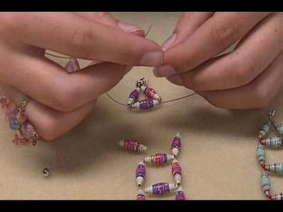 Ladder Squares Paper Bead Bracelet.wmv