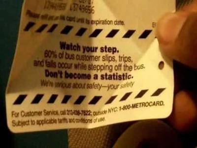 MetroCard Origami Tutorial Part 1