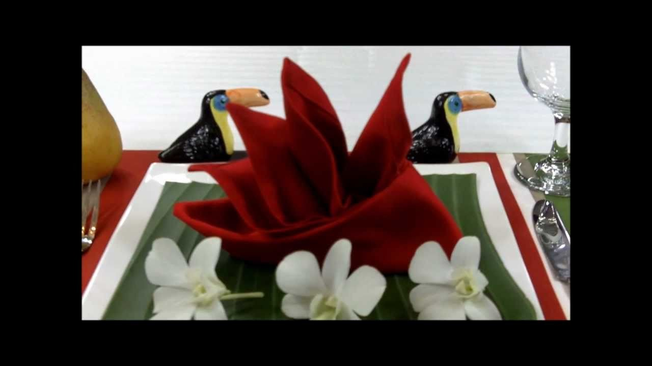 Napkin Folding: How to fold Bird of Paradise
