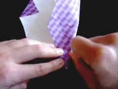 Origami folding instructions -Origami rose