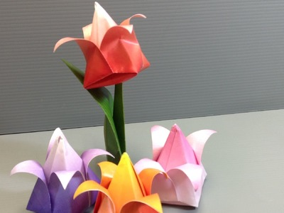 Origami Spring Tulips - Print at Home