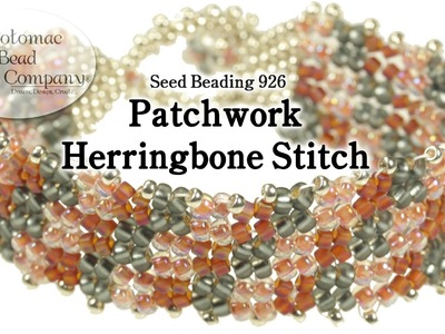 Patchwork Herringbone Stitch Bracelet