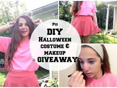 Pig DIY Halloween Costume and Makeup + GIVEAWAY