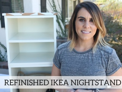 Refinished Ikea Nightstand - Home Decor DIY