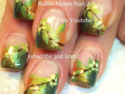 Thanksgiving Nail Art | DIY Shimmery Fall Flower Nails | Autumn design tutorial