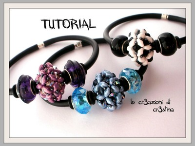 Tutorial Pandorina con Superduo. Twin Beads, Bicono Swarovski 4 mm, Rocailles - DIY Beaded Bead