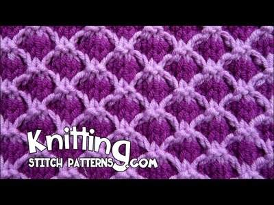 Two-tone Lattice | Reversible stitch