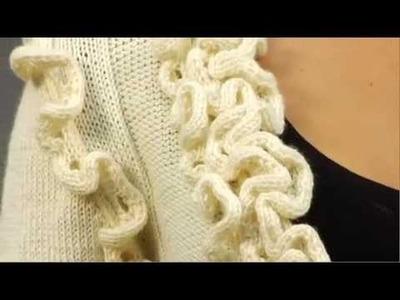 #19 Ruffle Edge Cardi, Vogue Knitting Holiday 2009