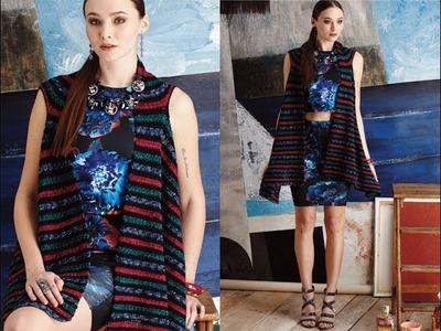 #20 Waterfall Vest, Vogue Knitting Crochet 2014
