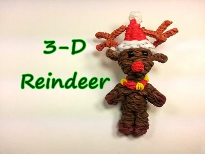 3-D Reindeer Tutorial by feelinspiffy (Rainbow Loom)