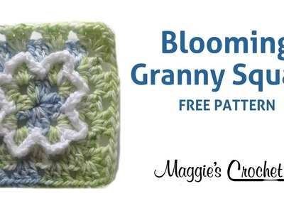 BLOOMING GRANNY SQUARE FREE CROCHET PATTERN - RIGHT HANDED