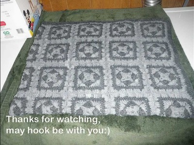 Crochet Blanket, Afghan, Throw - Tutorial