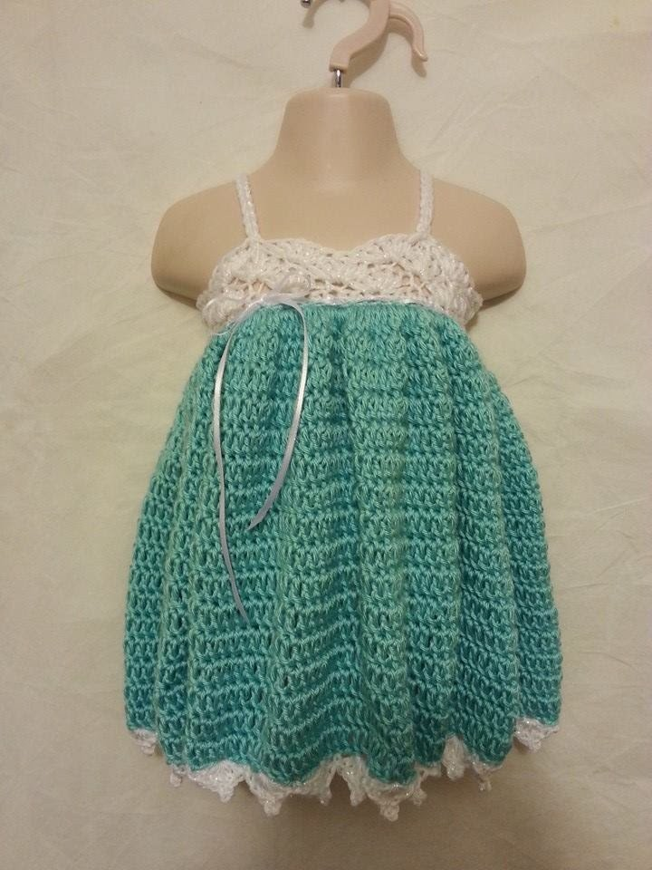 #Crochet Easy Baby Toddler Adjustable Size Spring Easter Dress Gown #TUTORIAL