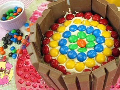 Decorate a Kit-Kat RAINBOW BIRTHDAY CAKE - Easy how-to tutorial - party idea