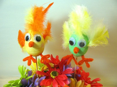 DIY Easter Chick - Crafts for kids (Puppets.Decoration)