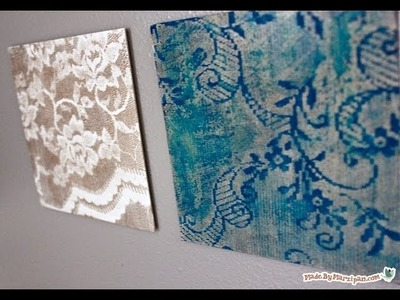DIY Easy Water Color Lace Art