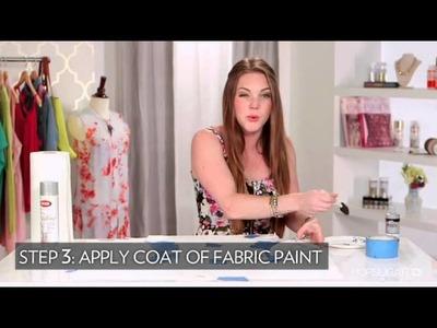 DIY Fashion, Add Metallic Sleeves to Your White T-Shirt, Fab Flash