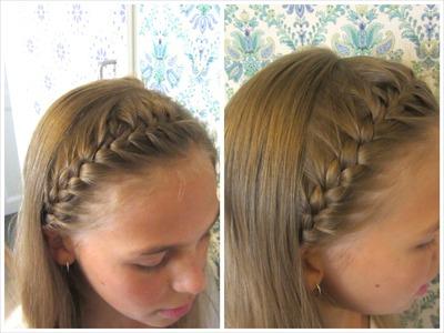 DIY French braided headband - HairAndNailsInspiration