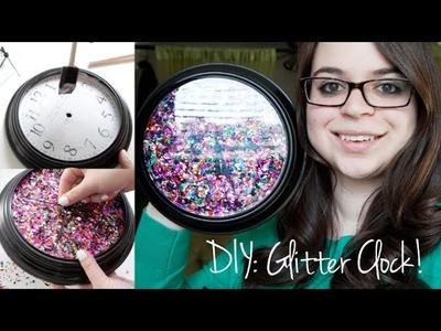 DIY | Glitter Clock Room Decor