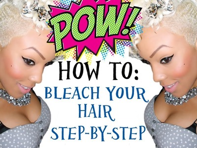 (DIY) How To: PLATINUM BLONDE BOMBSHELL HAIR (Step-By-Step)