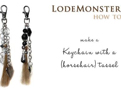DIY keychain with a (horsehair) tassel