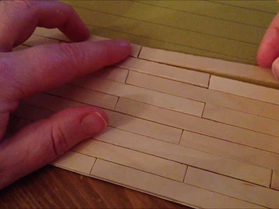 ~DIY: Make a dollhouse floor with popsicle sticks~