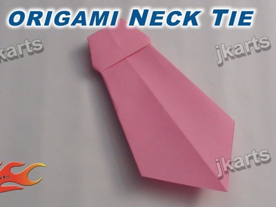DIY Origami Neck Tie for Father's Day JK Arts 242
