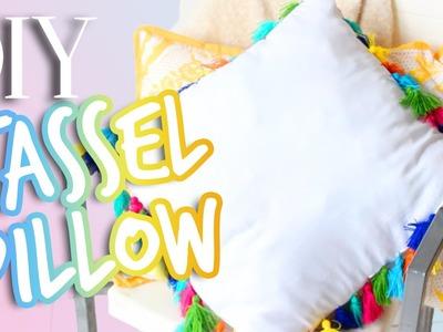 DIY Room Decor: Anthropologie Tassel Pillow