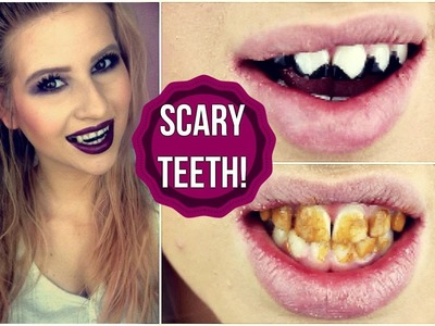 DIY SCARY HALLOWEEN TEETH! (Vampire, Zombie & Cat)
