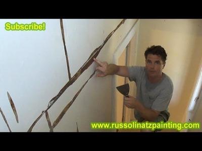 DIY Skim Coat Wallpaper & Painting Walls (Part 2) -Drywall Repair & Wall Preparation
