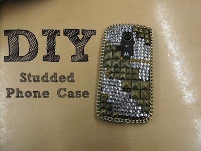 DIY Studded Phone Case. Tutorial. Bling Bling