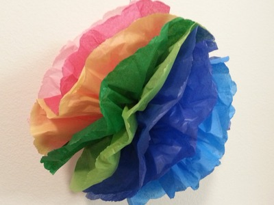 DIY Tissue Paper Pom Pom, Smoothing Paper, Soft Spoken for Relaxation, ASMR