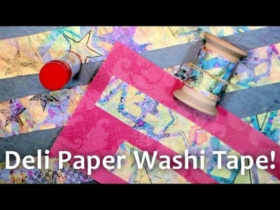 DIY Washi Tape with Deli Paper & Glue Stick! {looks like the real McCoy!}