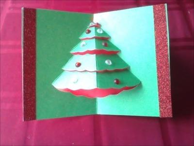 Easy Popup Christmas Tree Card (diff 2.10) (carte de Noël Weihnachtskarte tarjeta de Navidad)
