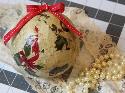 Easy Scrap Fabric Christmas Balls | Tutorial