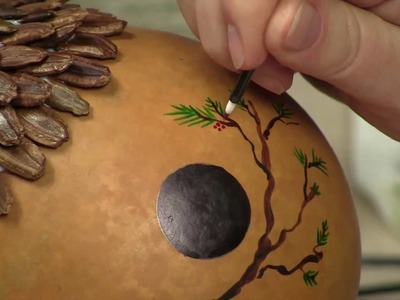 "How to Create a Faux ""Pinecone"" Roof Effect (Part 2) - Gourd Crafting Secrets Revealed"