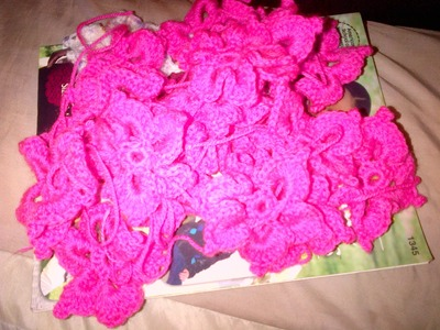 How to crochet flower that can be used to make baby shawl or blanket