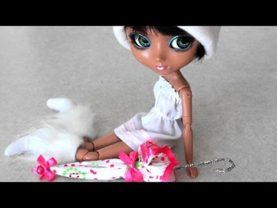 How to Make a Closed Doll Umbrella - Doll Crafts