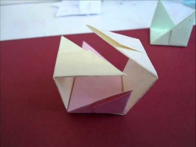 How to make a Origami Cube Gift Box))