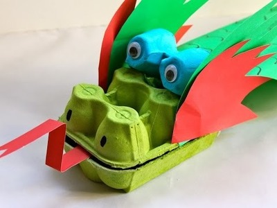 How to make an egg carton dragon