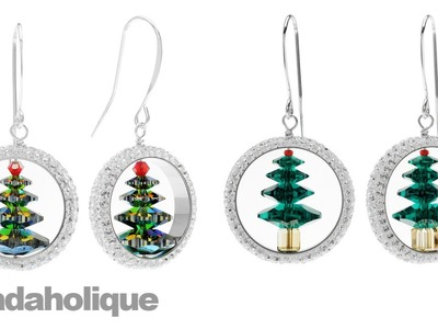 How to Make Captured Swarovski Crystal Christmas Tree Earrings