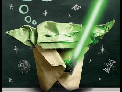 How to make THE ORIGAMI COVER YODA