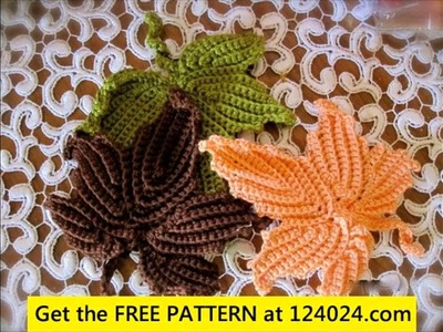 Irish crochet leaf tutorial