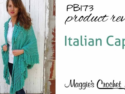 Italian Cape Crochet Pattern Product Review PB173
