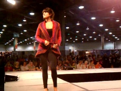 Knit Swirl Mountain Colors Coat - TNNA Fashion Show 2011