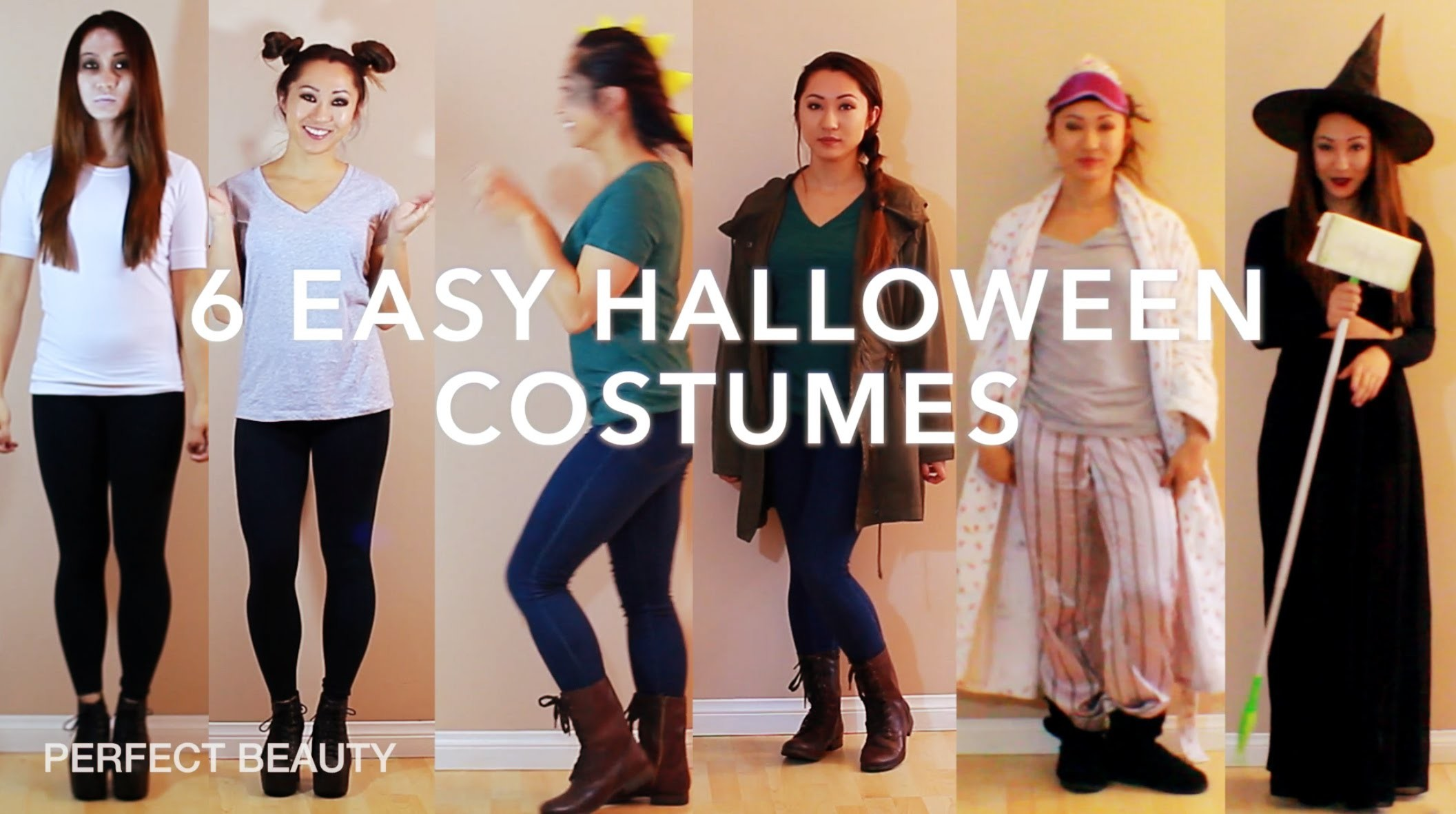 Last Minute! DIY Halloween Costume Ideas! PERFECT BEAUTY