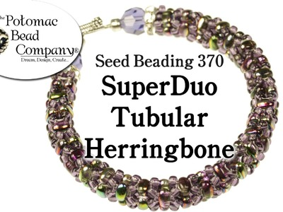 Make a SuperDuo Tubular Herringbone Bracelet