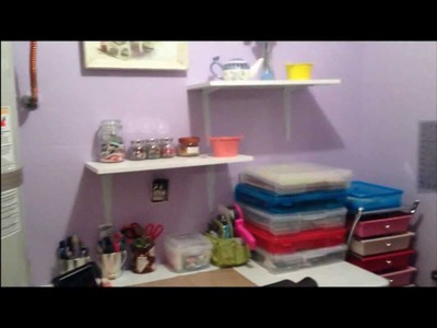 My new inexpensive  small craft room