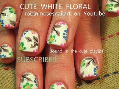 Nail Art Tutorial | Easy Spring Nails | DIY Pastel Flower Nail Design!!!